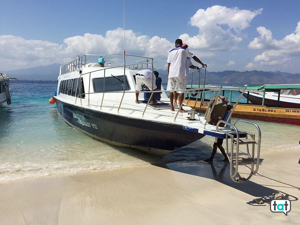 talk about travel gili trawagan blue water express