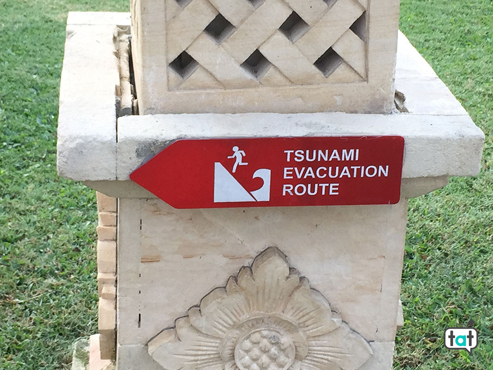 talk about travel bali tsunami evacuation route