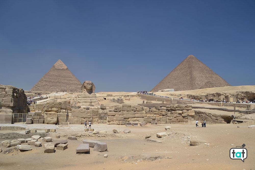 talk about travel egitto piana di giza piramide di chefren cheope sfinge