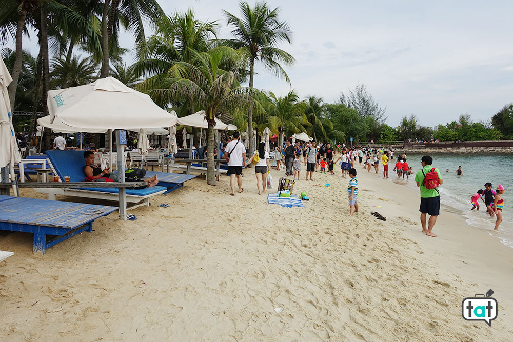 talk about travel singapore sentosa island spiaggia