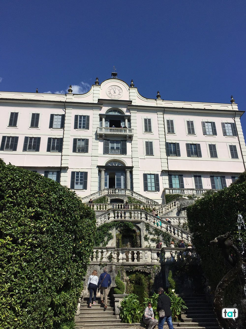 villa carlotta scalinata ingresso