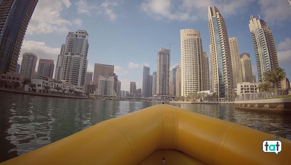Dubai Marina The yellow boat
