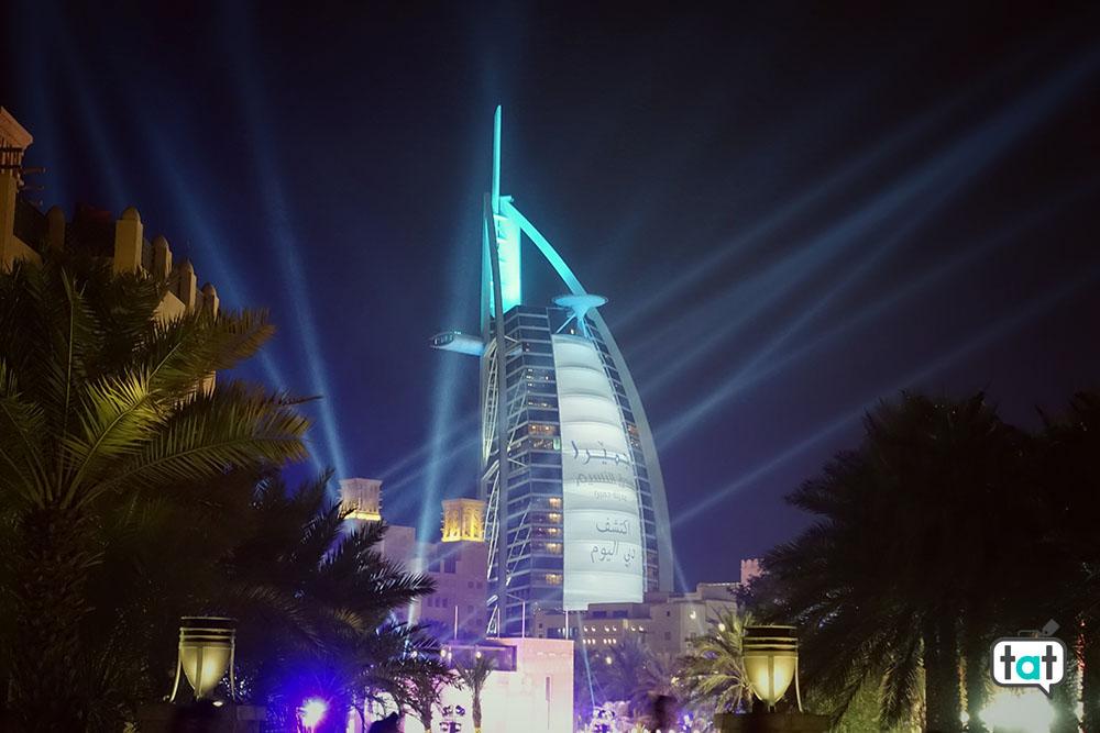 Dubai Burj Al Arab di notte