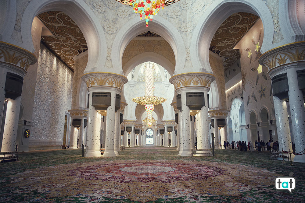 moschea zayed interno