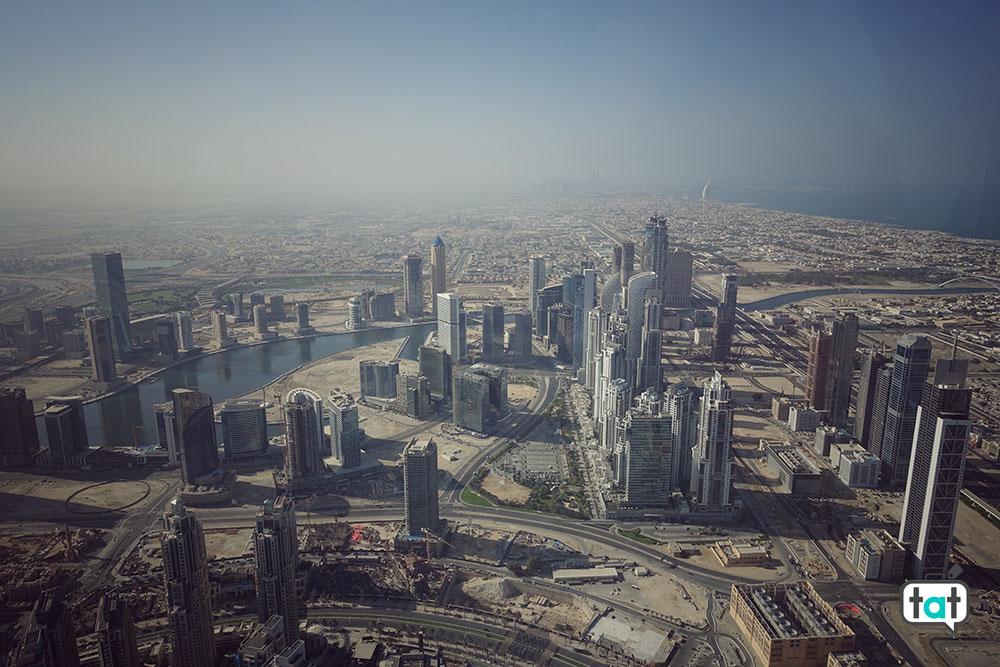 Dubai at the top Burj Khalifa