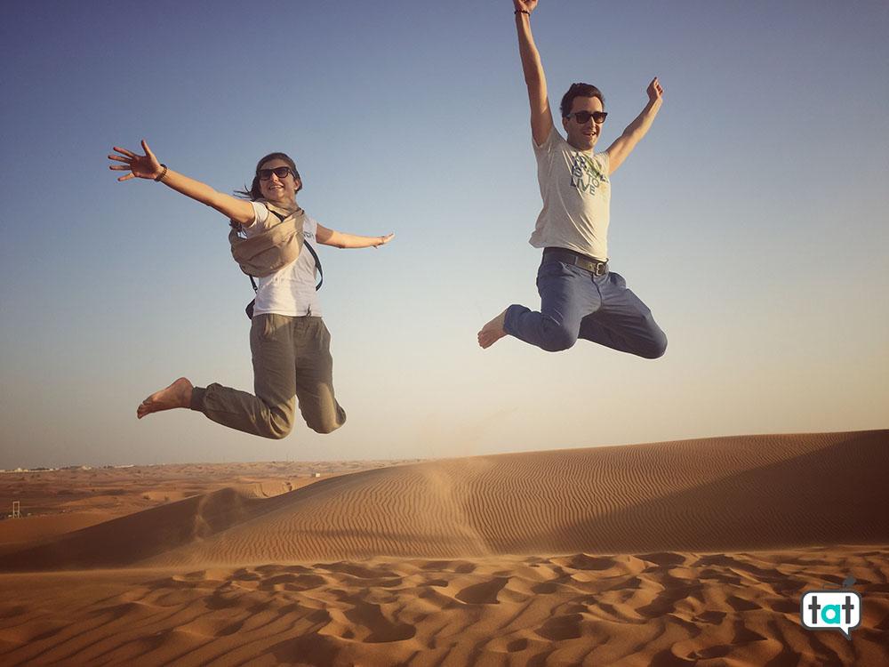 Dubai deserto salto
