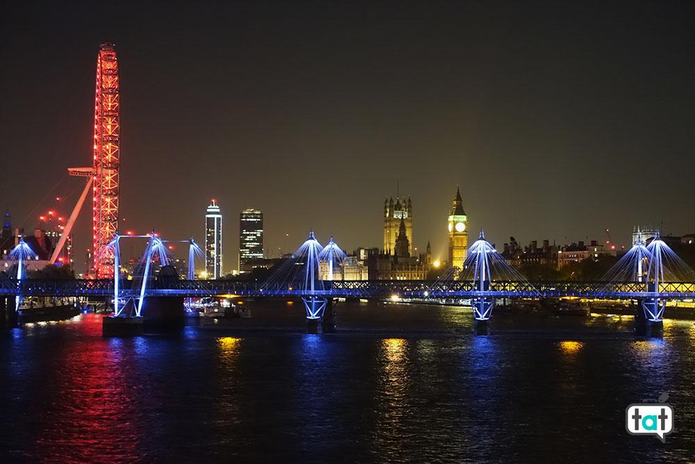 Veduta serale di Londra