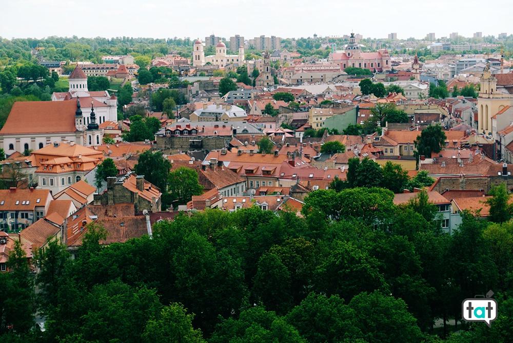 Vista dalla collina di Gediminas a Vilnius