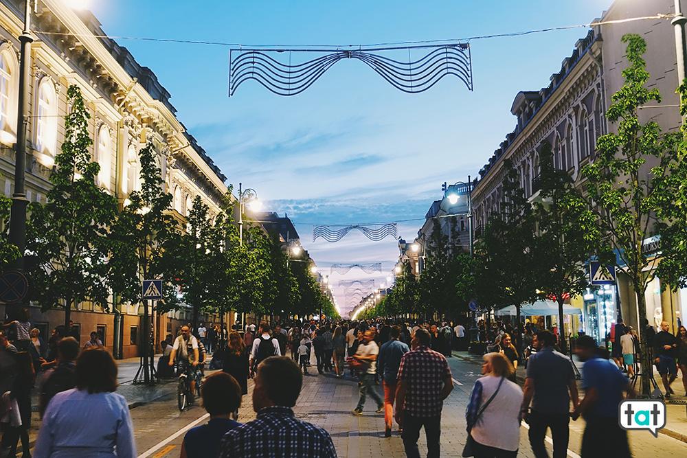 centro città di Vilnius