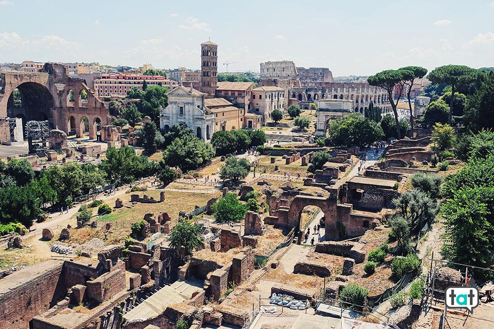 I Fori Romani visti dalgli orti farnesiani
