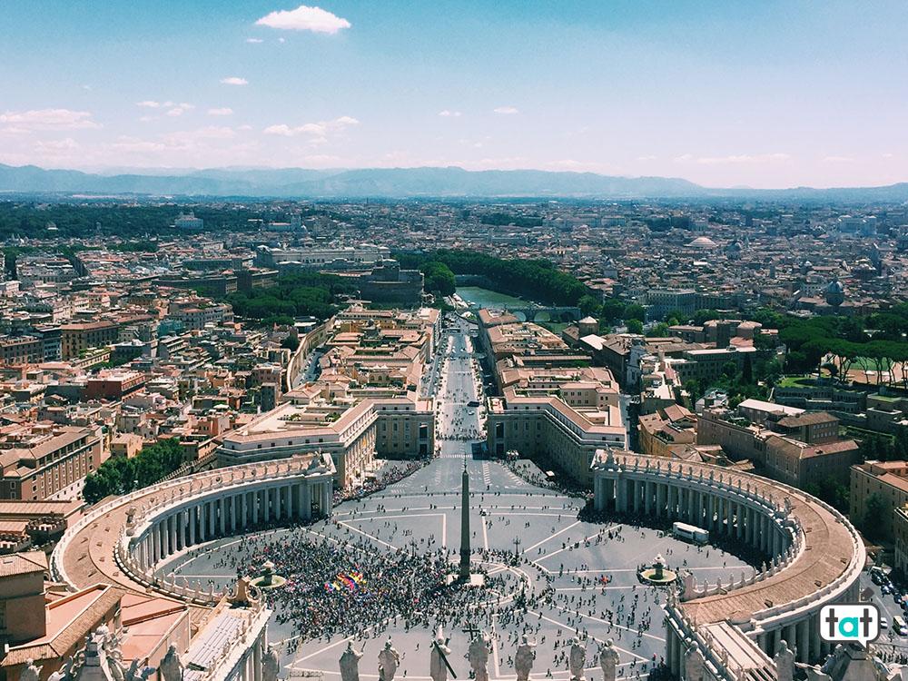 Vista dalla cupola di San Pietro