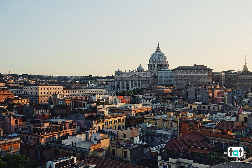 Vista dall'alto di Roma
