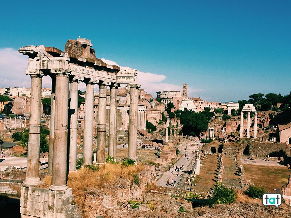 I fori Romani visti dal Campidoglio