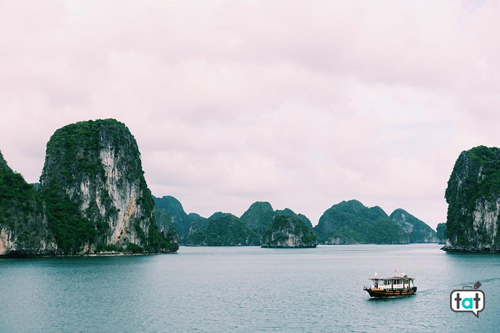 Vista sulla Baia di Halong