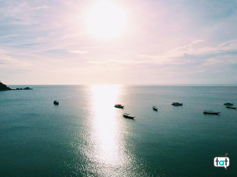 Vista dall'alto mare Koh phangan