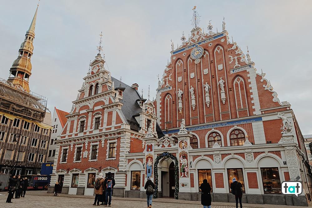 Casa delle Teste Nere inverno Riga