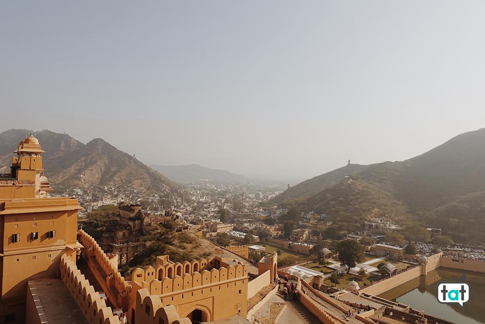 Vista da Amber fort