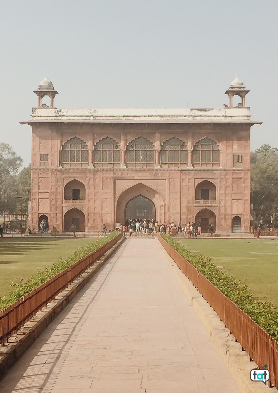 Ingresso forte rosso Nuova Delhi