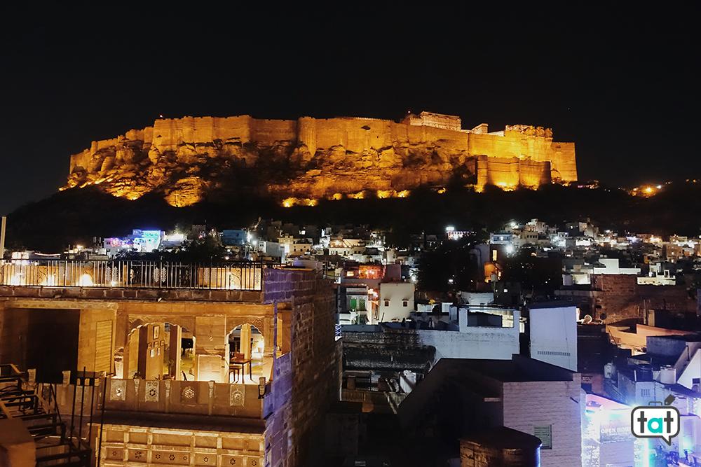 Vista alla sera Mehrangarh Fort