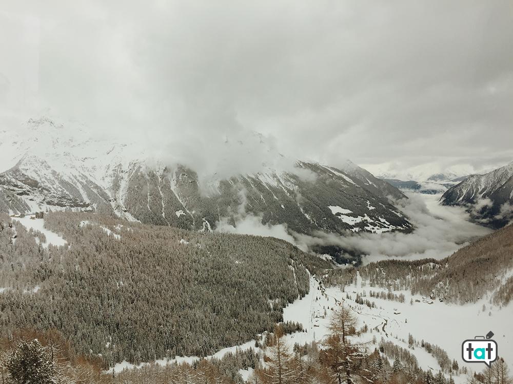 Trenino Rosso del Bernina vista