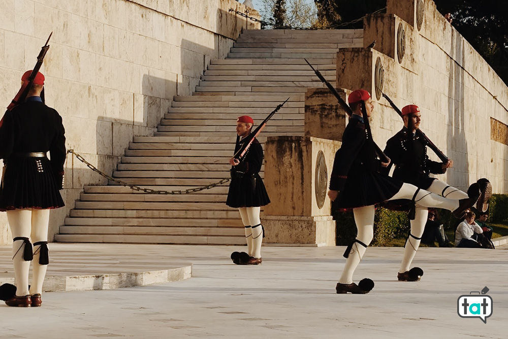 Cambio della guardia parlamento Atene