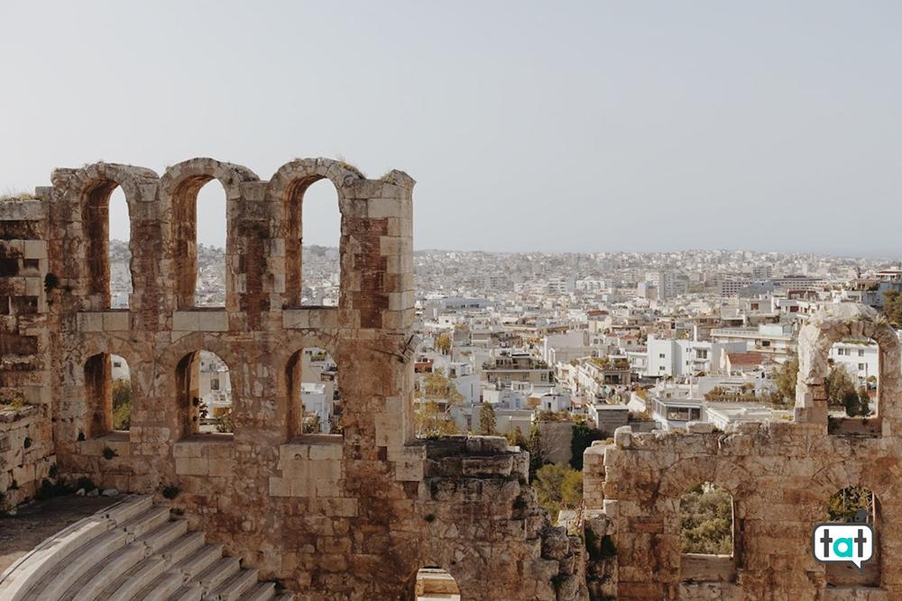 Teatro Dionisio Atene con vista