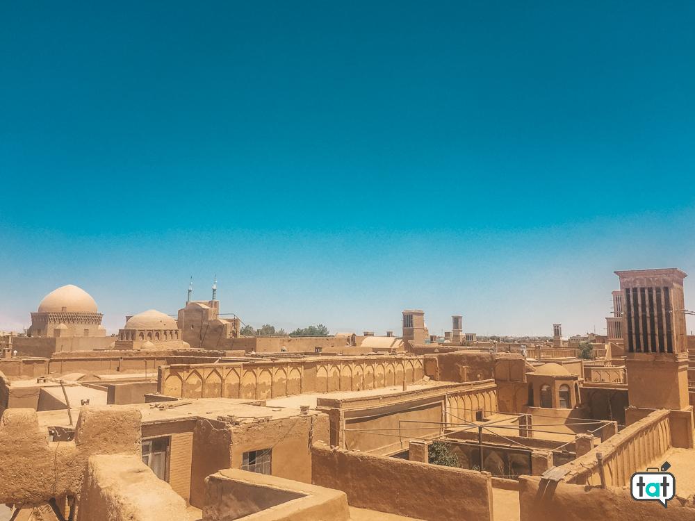 vista dall'alto Yazd