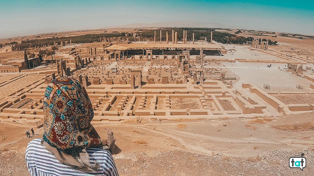 Vista dall'alto Persepoli