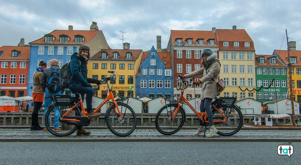 Copenaghen in bicicletta