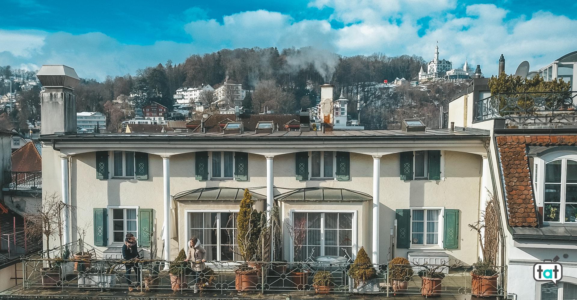 vista terrazza Lucerna